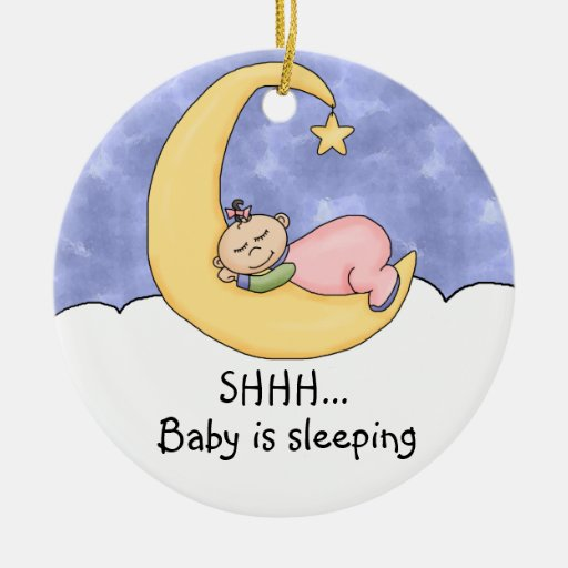 Shhh Baby Sleeping Door Hanger Ornament