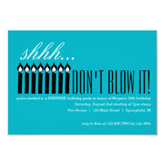 Shhh... DON'T BLOW IT! Card
