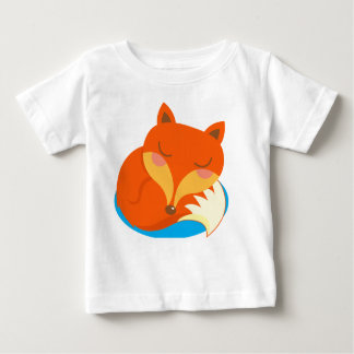 Shhh... Fox is sleeping. Baby T-Shirt