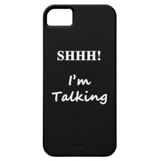 Shhh I'm talking Barely There iPhone 5 Case