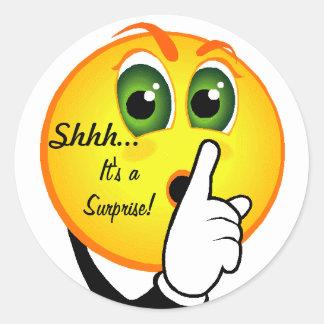 Shhh... It's aSurprise! Classic Round Sticker