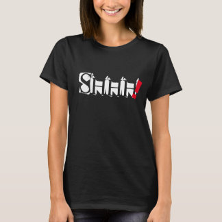 shhh  trendy word quote t-shirt design
