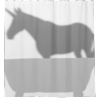 Shhhh! There's a Unicorn in the Bathtub Shower Curtain