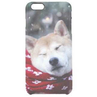 Shiba dog - doge dog - merry christmas clear iPhone 6 plus case