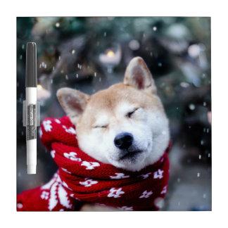 Shiba dog - doge dog - merry christmas dry erase board