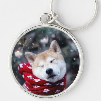 Shiba dog - doge dog - merry christmas key ring