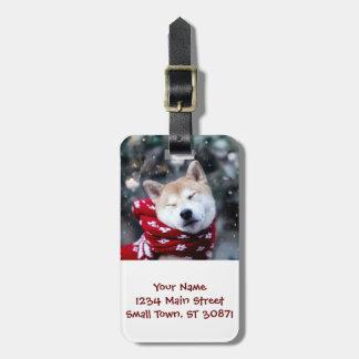 Shiba dog - doge dog - merry christmas luggage tag