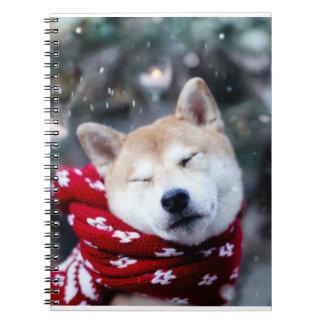 Shiba dog - doge dog - merry christmas notebook