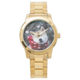 Shiba dog - doge dog - merry christmas watch
