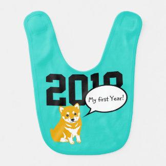 Shiba Dog Year 2018 Baby Bib