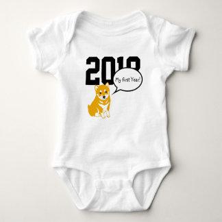 Shiba Dog Year 2018 W Baby Bodysuit