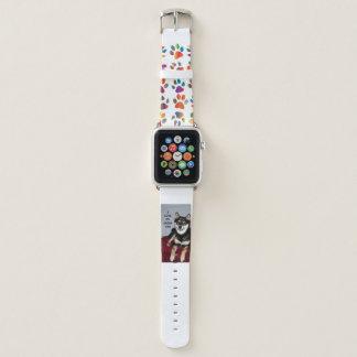 shiba full black and tan love w pic apple watch band