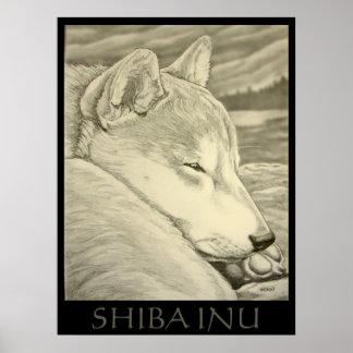 Shiba Inu Art Poster Dog Art Poster Shiba Inu Gift