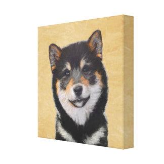 Shiba Inu (Black and Tan) Painting - Dog Art Canvas Print