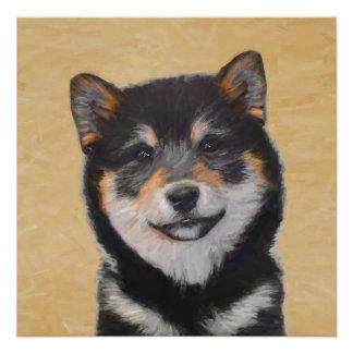 Shiba Inu (Black and Tan) Painting - Dog Art Poster