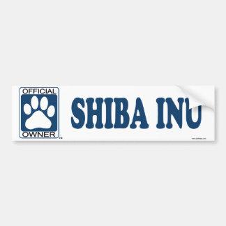 SHIBA INU_Blue Bumper Sticker