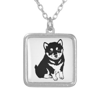 Shiba Inu Chinese Dog Year 2018 Square Necklace