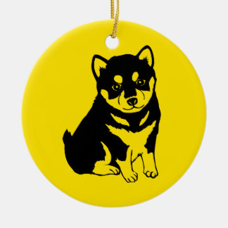 Shiba Inu Chinese Dog Year 2018 Text back Ornament