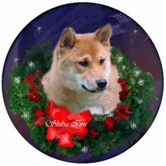 Shiba Inu Christmas Gifts Ornament Photo Sculpture Decoration