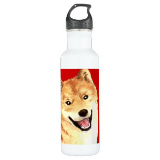 Shiba Inu Color Block 710 Ml Water Bottle
