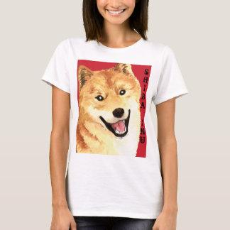 Shiba Inu Color Block T-Shirt