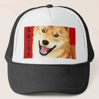 Shiba Inu Color Block Trucker Hat