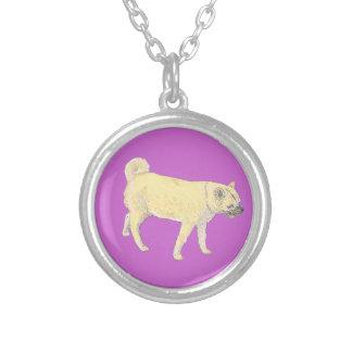 Shiba Inu Cute golden Dog Necklaces Add name