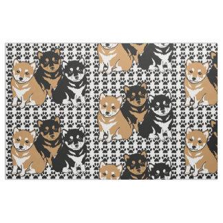 Shiba Inu Dog Breed Fabric