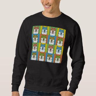 Shiba Inu Dog Cartoon Pop-Art Sweatshirt