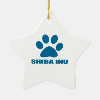 SHIBA INU DOG DESIGNS CERAMIC ORNAMENT