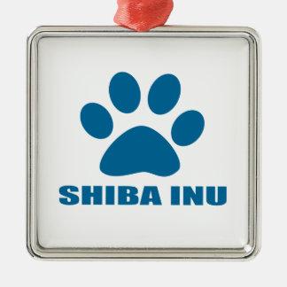SHIBA INU DOG DESIGNS METAL ORNAMENT