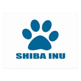 SHIBA INU DOG DESIGNS POSTCARD