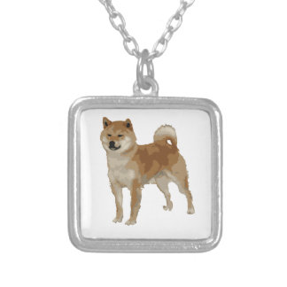 Shiba Inu Dog Silver Plated Necklace
