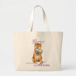 Shiba Inu Heart Mom Large Tote Bag