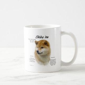 Shiba Inu History Design Basic White Mug