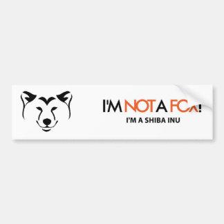Shiba Inu: I'm Not a Fox Bumper Sticker