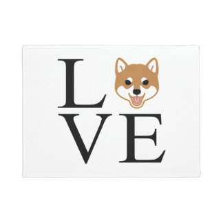 Shiba Inu Love Doormat