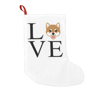 Shiba Inu Love Small Christmas Stocking