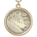 Shiba Inu Necklace Shib Inu Dog Art Jewellery