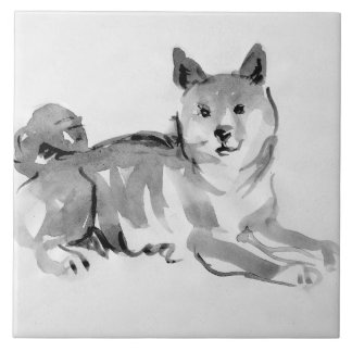Shiba Inu Original Painting 2 Dog Year 2018 Tile