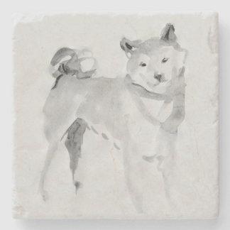 Shiba Inu Original Painting 3 Dog Year 2018 Stone Stone Coaster