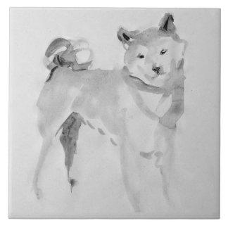 Shiba Inu Original Painting 3 Dog Year 2018 Tile