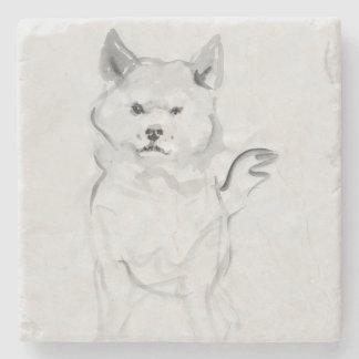 Shiba Inu Original Painting 4 Dog Year 2018 Stone Stone Coaster