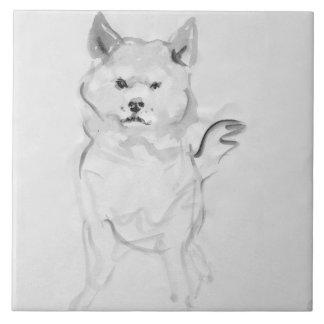 Shiba Inu Original Painting 4 Dog Year 2018 Tile