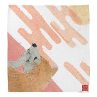 Shiba Inu, Pink Sunset, Japanese Bandannas