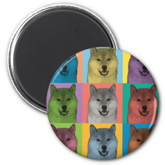 Shiba Inu Pop-Art Magnet