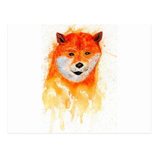Shiba Inu Portrait Postcard