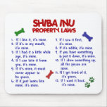 SHIBA INU Property Laws 2 Mouse Pad