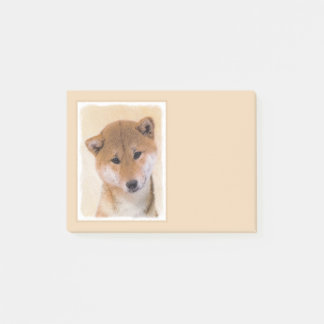 Shiba Inu (Red) Painting - Original Dog Art Post-it Notes