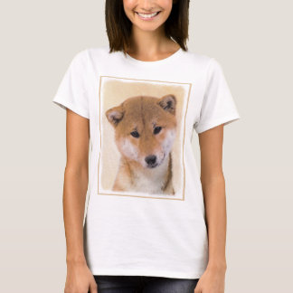 Shiba Inu (Red) Painting - Original Dog Art T-Shirt